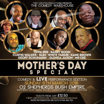 MOTHERS DAY SPECIAL COMEDY & LIVE PERFORMANCE